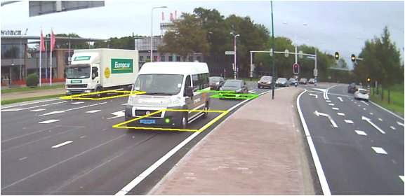 Weergave verkeersmeting in video